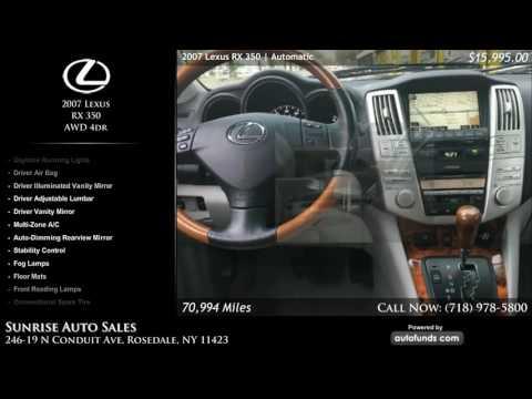 Used 2007 Lexus RX 350 | Sunrise Auto Sales, Rosedale, NY