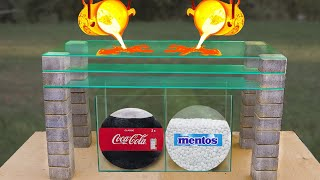 Experiment: the Balloon of Coca Cola & Mentos VS Lava