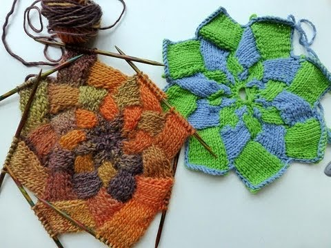 Advent Calendar December 19 2012 Knitting Entrelac Star