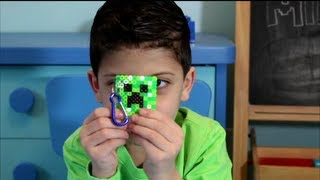 Minecraft Creeper Perler Bead Keychain Tutorial - Abe