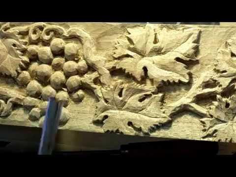 Carving A Grape Mantel Part 2 of 2
