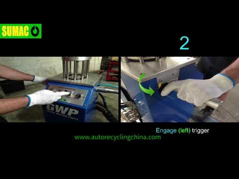 ELV Fluid Recovery Process  By SUMAC Auto Recycling Equipment