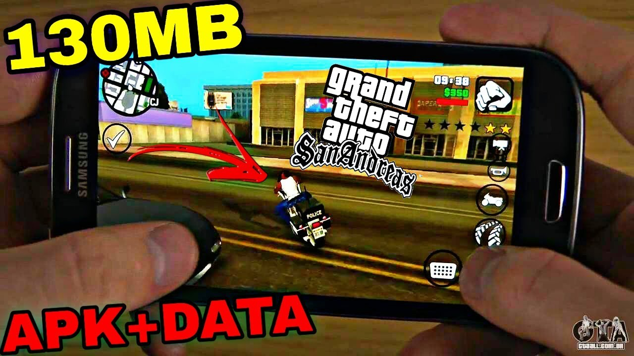 SAIUU!! GTA SAN ANDREAS LITE 130MB APK+DATA PARA ANDROID (DOWNLOAD)