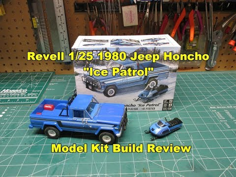 Revell 1/25 1980 Jeep Honcho Ice Patrol Model Kit Review Build 85-7224