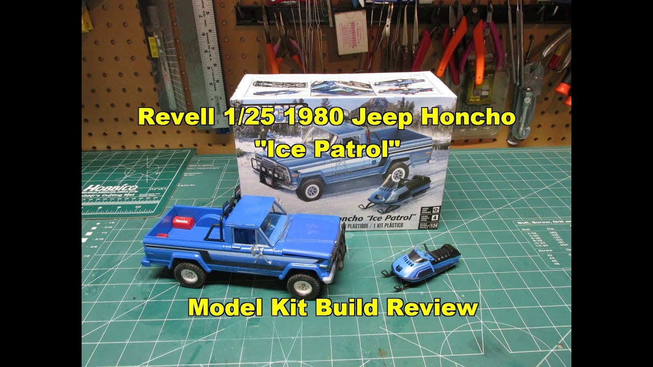 Revell 1/25 1980 Jeep Honcho Ice Patrol Model Kit Review ...