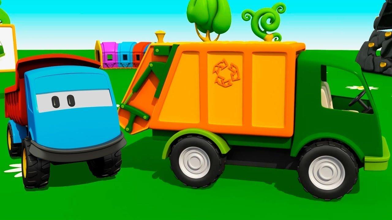Leo O Caminhao Um Caminhao De Lixo Desenhos Animados De Carros