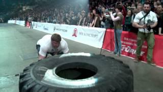 Александр Лысенко кантовка покрышки 360 кг подъем камня 140 кг