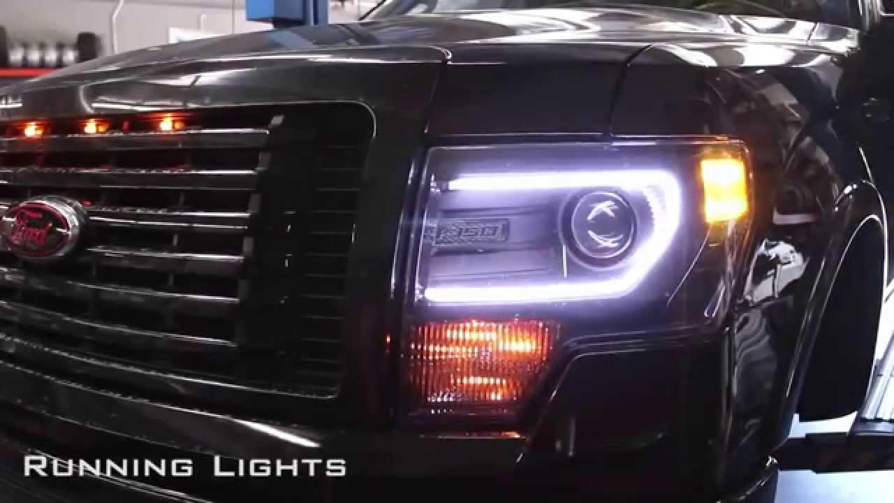 Neon Car Lights: 2x60 Tube Switchback Headlight & Turn Signal LED Strips