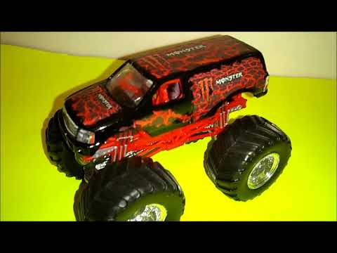 Monster Jam Custom Monster Monster Energy Red Lava Scheme Youtube