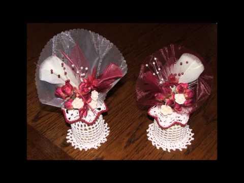 D coration crochet pour mariage youtube - Decoration pour mariage ...