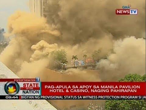 SONA: Limang empleyado ng PAGCOR, patay sa sunog sa Manila Pavilion Hotel & Casino