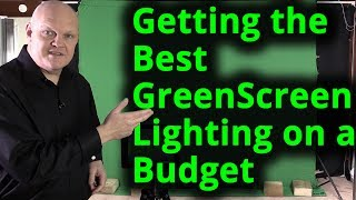 Getting the Best Green Screen Chroma key lighting setup on a budget