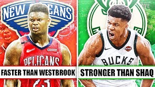 Download 7 GREATEST FREAKS OF NATURE IN THE NBA Mp3 and Videos