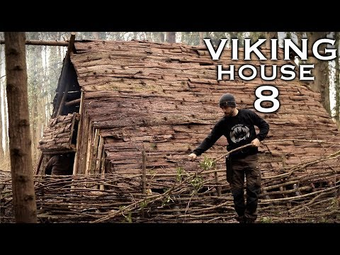 Building a Viking House: Walls and Shields | Bushcraft Project (PART 8)