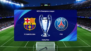 #barcelonavpsg #barcapsg #barcelonavspsg #barcelonapsgthis video is the gameplay of barcelona vs psg | round 16 uefa champions league 2020/21my second c...