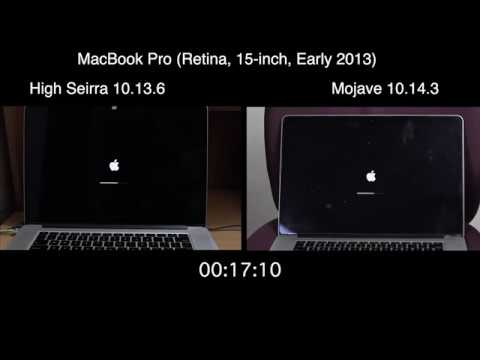 Mojave 10.14.3 Vs High Sierra 10.13.6 Boot Test | Speed Test | ISuperTech