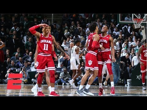 Indiana Shocks No. 6 Michigan State With Overtime Victory | College Basketball Highlights