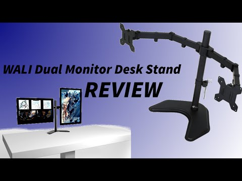WALI Articulating Dual Monitor Desk Stand Set-up/Review