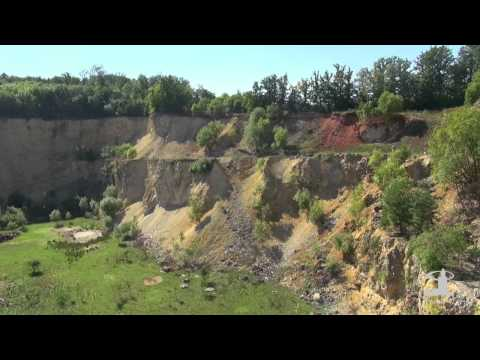 Geopark Ries - Überflug über das Geotop Lindle