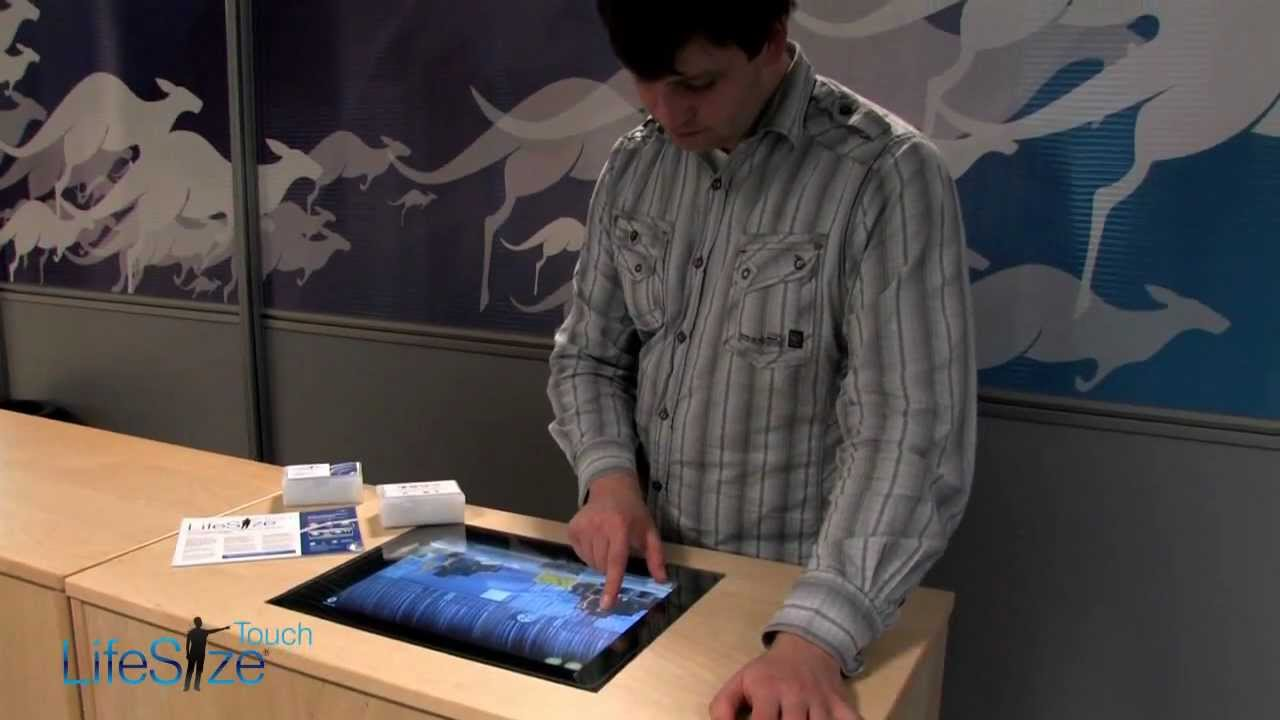 LifeSize Touch   Interactive Counter Top Using Through Glass Technology   HD