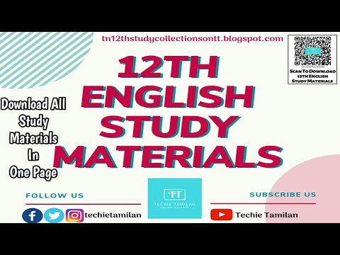 12th English All Study Materials | 2019 To 2020
