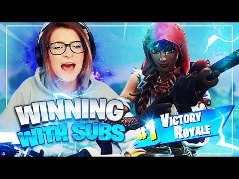 WINNING WITH MY SUBS! (Fortnite: Battle Royale) | KittyPlays
