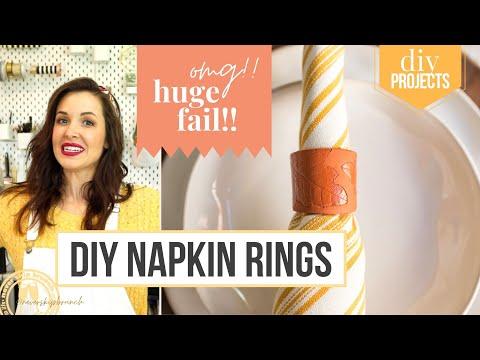 DIY Thanksgiving Napkin Rings + HUGE DIY FAIL!!!