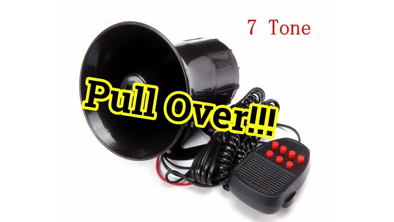 Police Siren Install Matcc 7 Tone Car Horn Aftermarket Wiring A