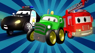 Police car for kids -  Car Patrol and the Tractor - Car Patrol in Car City !