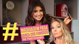 Paula Fernandes maquia Adriane Galisteu para a Dança dos Famosos