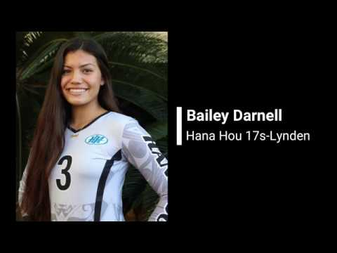 Bailey Darnell C/O 2019, Hana Hou 17s Highlight Video