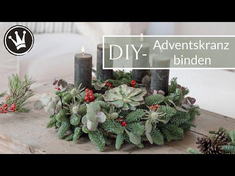 DIY-ADVENTSKRANZ selber machen | WeihnachtsdekoTrend 2019 | Adventskranz mit Sukkulente |GEWINNSPIEL