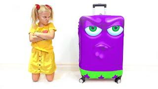 Алиса собирается в путешествие на каникулы без папы