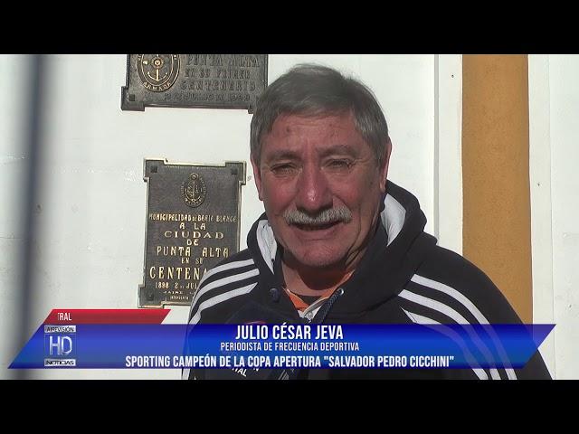 Sporting campeón de la copa Apertura Salvador Pedro Cicchini