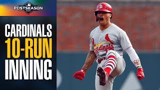 Cardinals Score 10 (yes, Ten) Runs In First Inning Of Nlds Game 5 Vs. Braves   Mlb Highlights