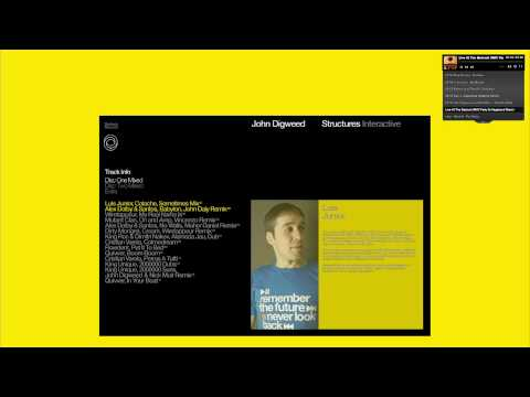 John Digweed - Structures - Interactive Video
