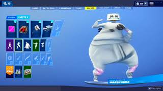 All *NEW* LEAKED FORTNITE DANCES BASS BOOSTED! (Marshmello Skin, Snowfall Week 9 Skin...)