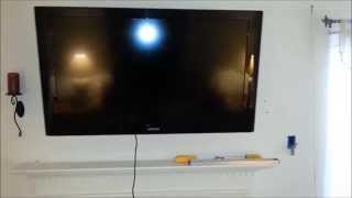 Over Fireplace Flat Panel Lcd Led Plasma Tv Install With Wire Fish Cable In Wall Run