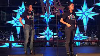 The Prom's Gabi Campo and Kalyn West sing Dance With You at Broadway Under the Stars