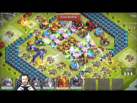 JT's Main First Guild War With DemogorgoN This is Fun Castle Clash