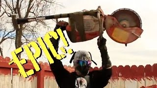 10 EPIC Zombie Video Game Weapons in Real Life!  Zombie Go Boom