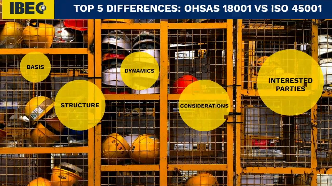 Top 5 Differences: ISO 45001 vs. OHSAS 18001