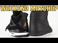 Air Jordan 4 Royalty vs Air Jordan 1 Perforated Black Weekend Matchup