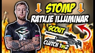 STOMP RATUJE ILLUMINAR!!! SCOUT CLUTCH 1vs2, WALKA O FINAŁ - CSGO BEST MOMENTS