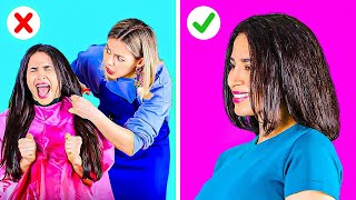 NO SCISSORS HAIR-SAVING HACKS YOU NEED TO TRY! || Funny And Useful Beauty Tips by 123 Go! Live