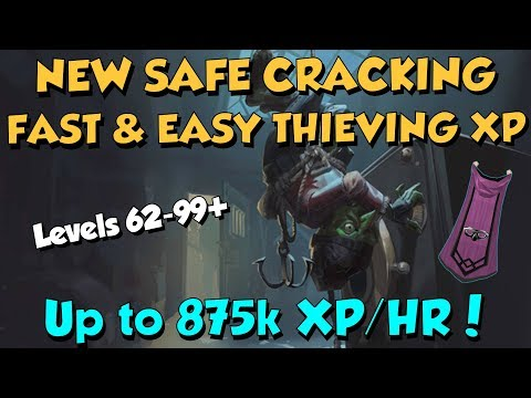 New! Safe Cracking! Fast Thieving XP - Level 62+ [Runescape 3] Up to 875k Xp/Hr!