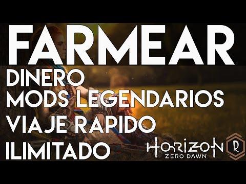 Horizon Zero Dawn - Viaje Rápido ilimitado, Farmear Mods Legendarios y Dinero al principio del juego