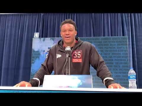Notre Dame's Defensive End Julian Okwara at 2020 NFL Combine