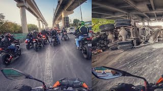 DELHI Road with SUPERBIKES & ACCIDENTS 😳