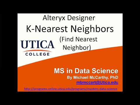 Alteryx Designer K-Nearest Neighbor (Find Nearest Neighbor Tool) How To